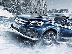2016 Mercedes Snow Driving