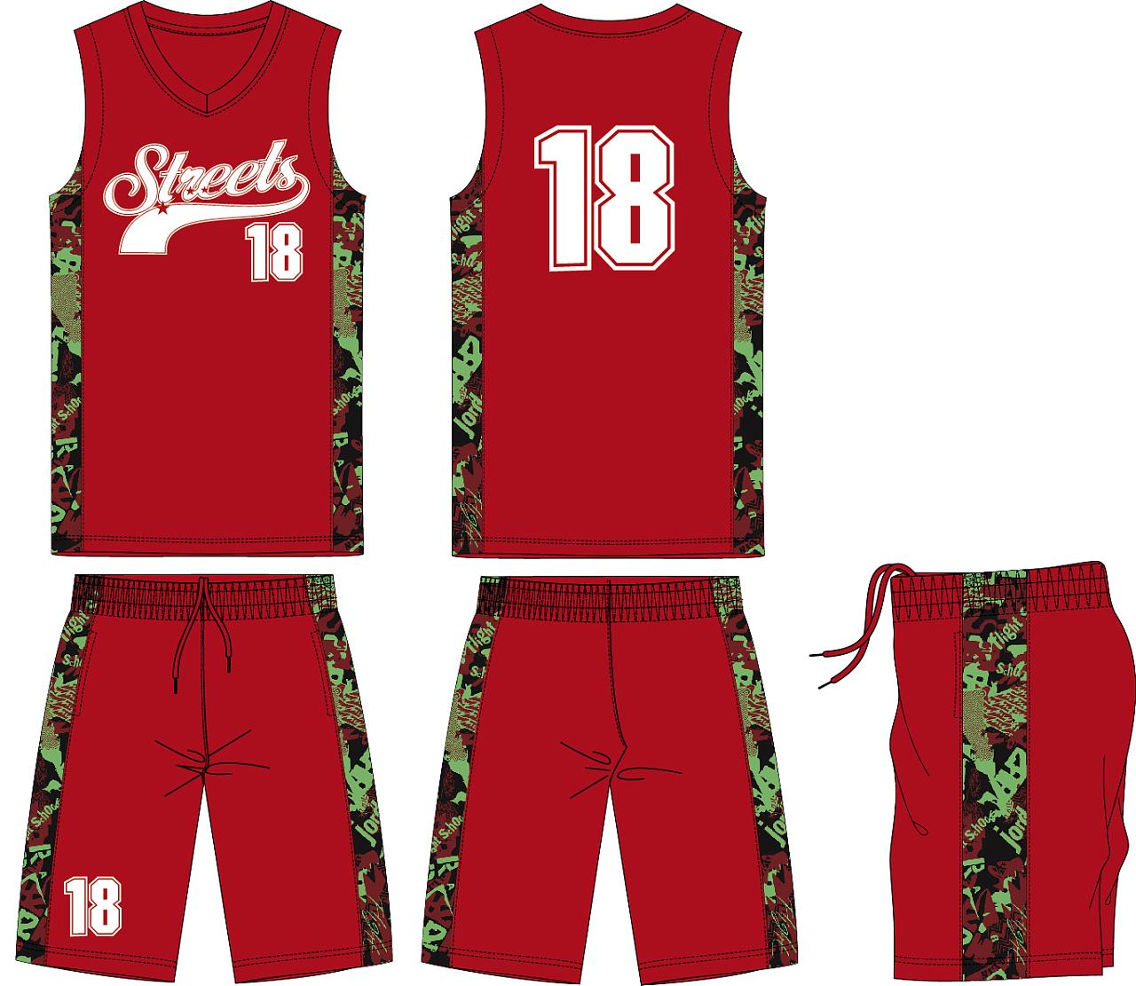 简单篮球服设计图图片