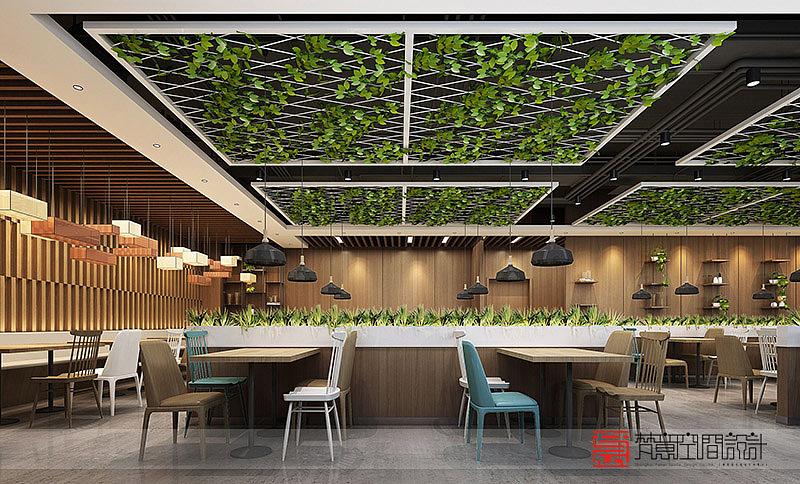 员工餐厅设计,职工餐厅设计,员工食堂设计,郑州餐厅设计,梵意设计图片