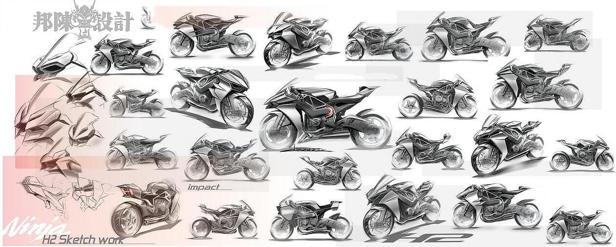 摩托车手绘