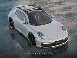 保时捷911猎装车3D设计全解析(带实力劝退过程视频)