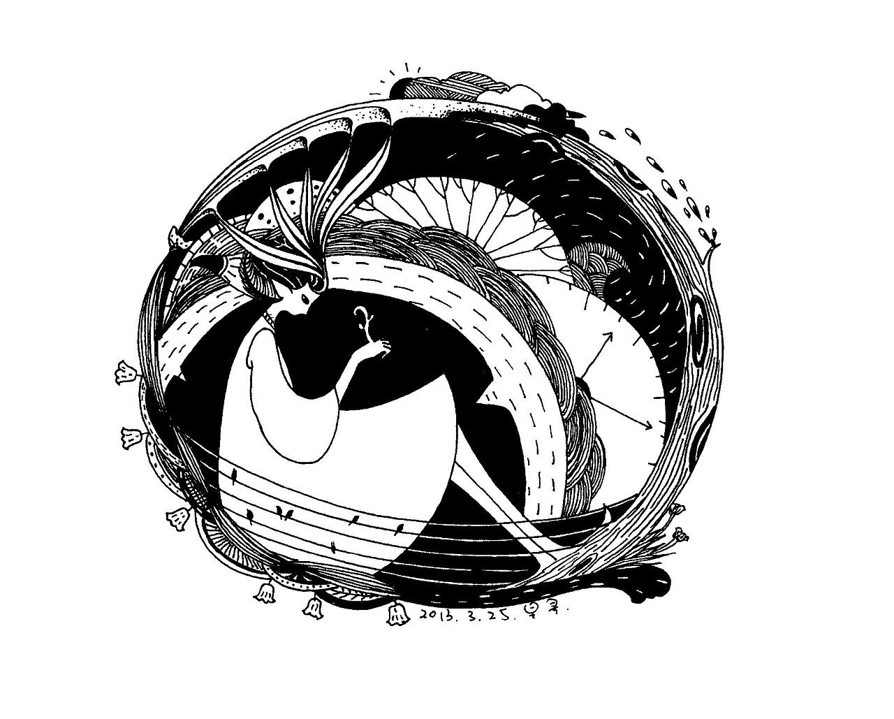 一组以圆形为构图的画.     图片