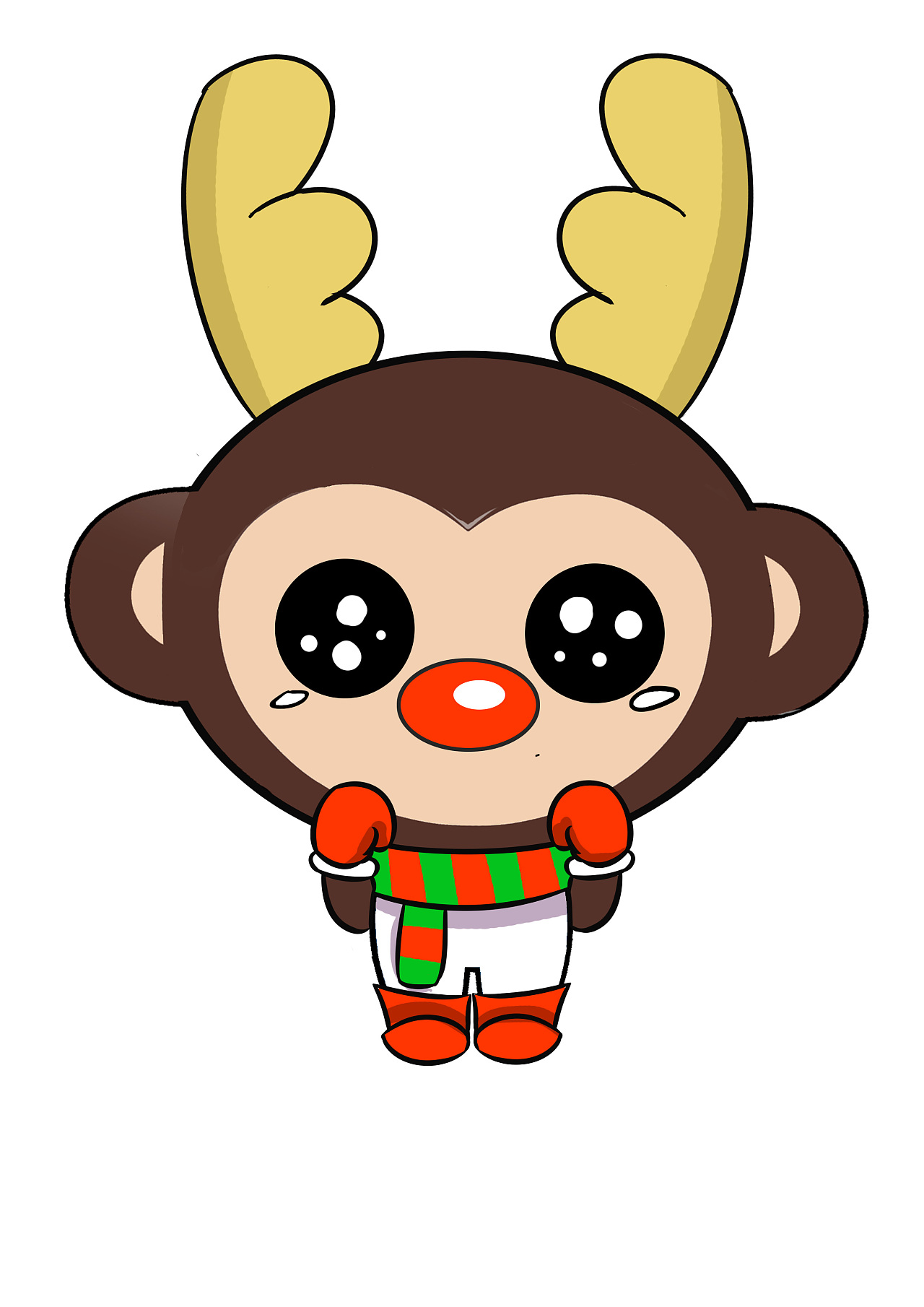 小猴子打球_小猴子猿宝表情~!