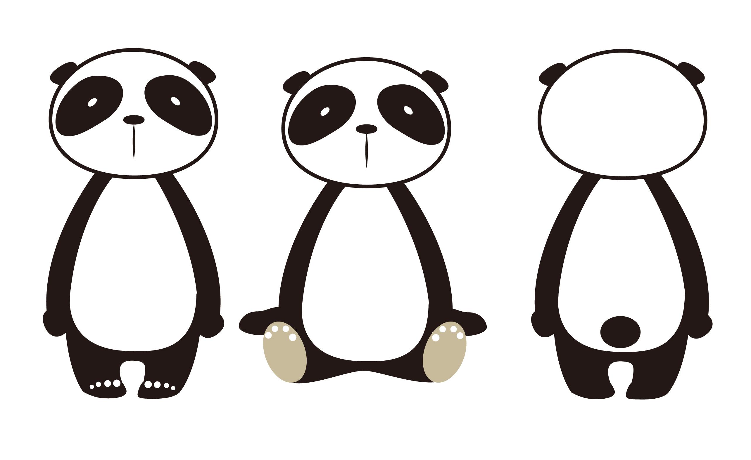 手绘熊猫电脑桌面壁纸