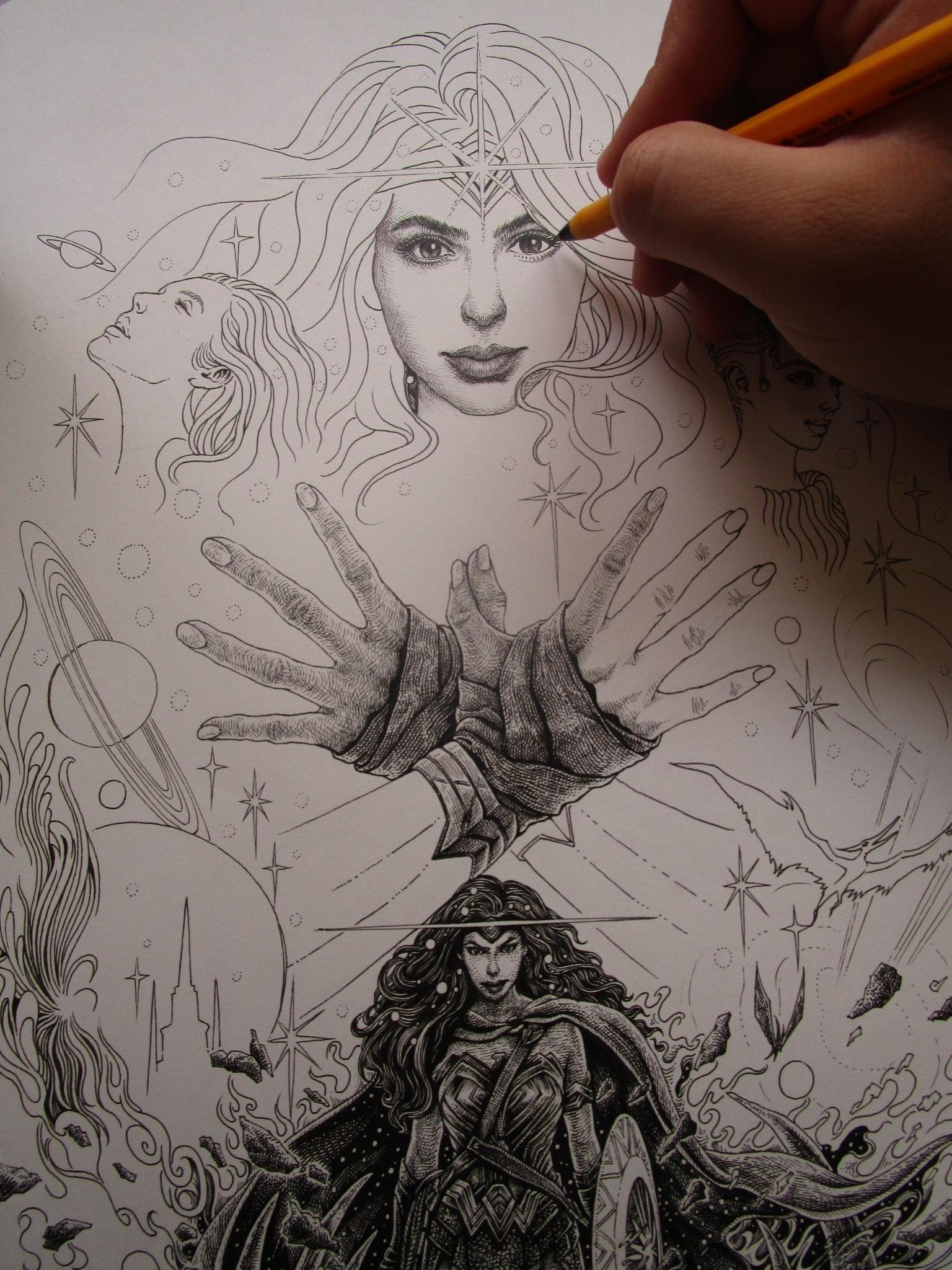 《神奇女侠》手绘