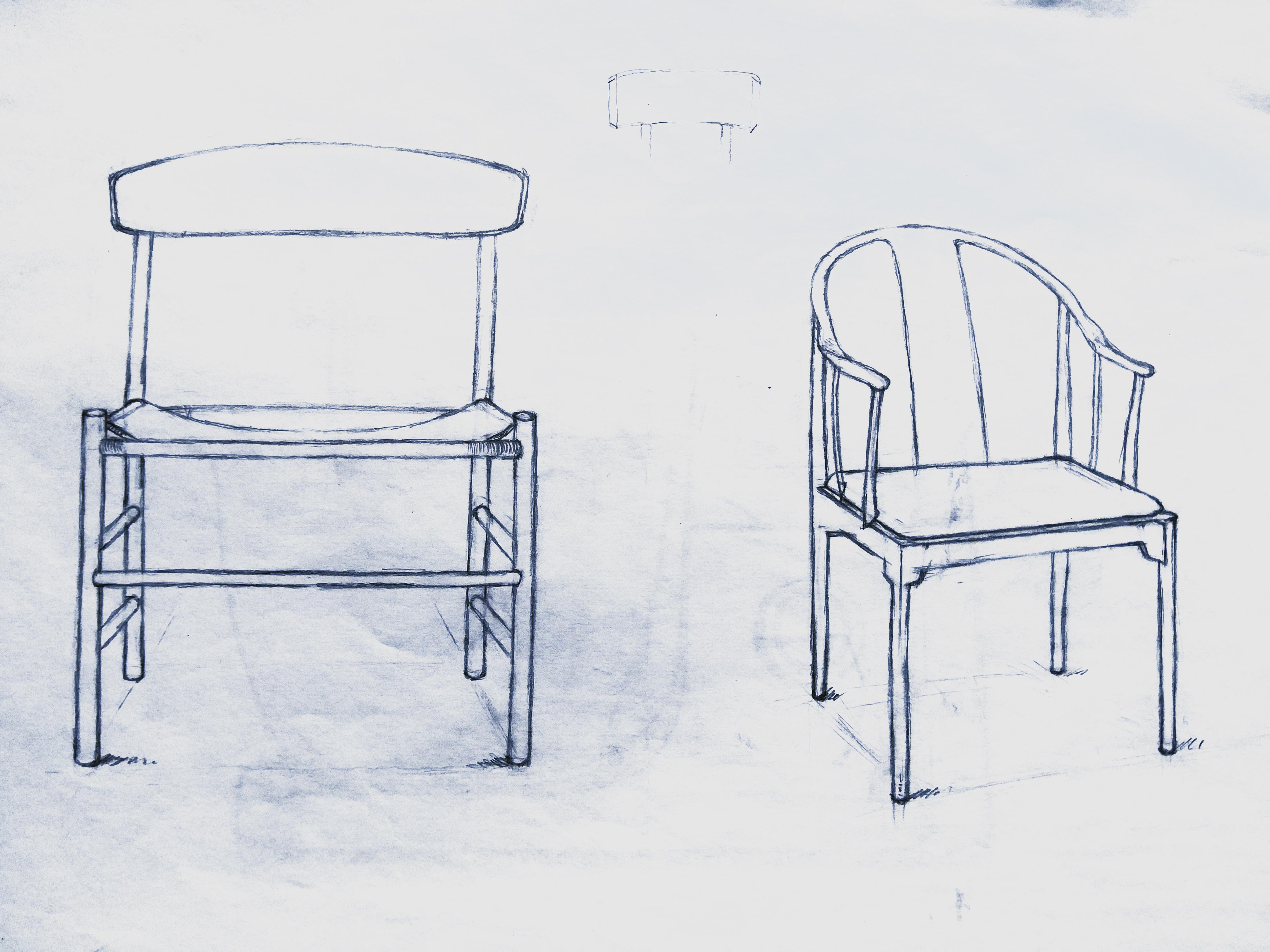 椅子效果图 手绘