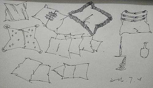 沙发单体线稿