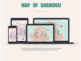 扁平地图插画