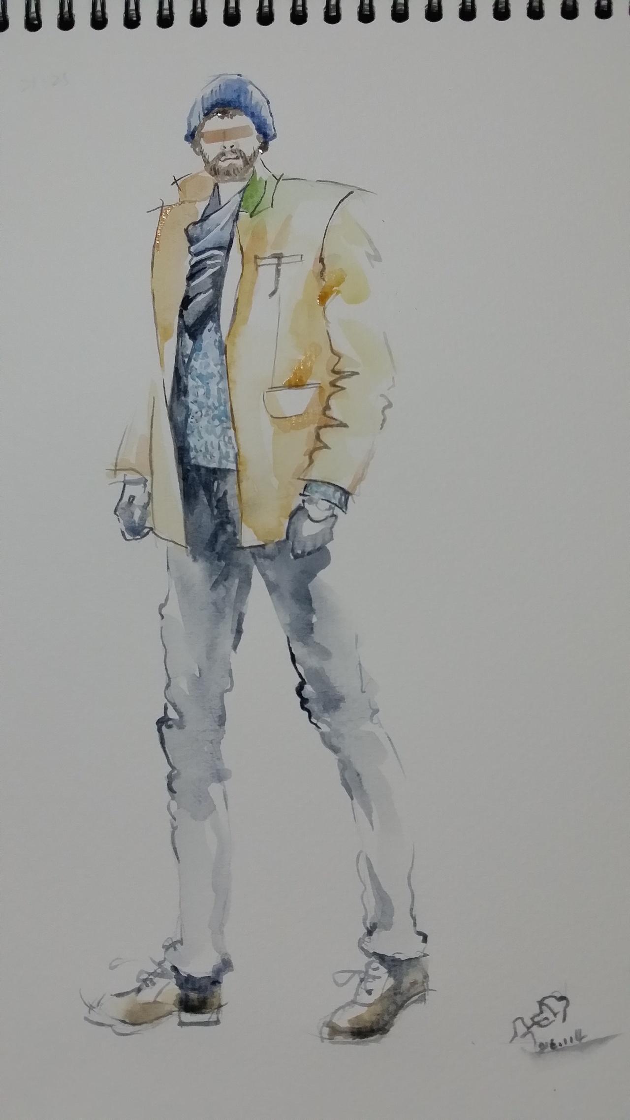 服装插画手绘