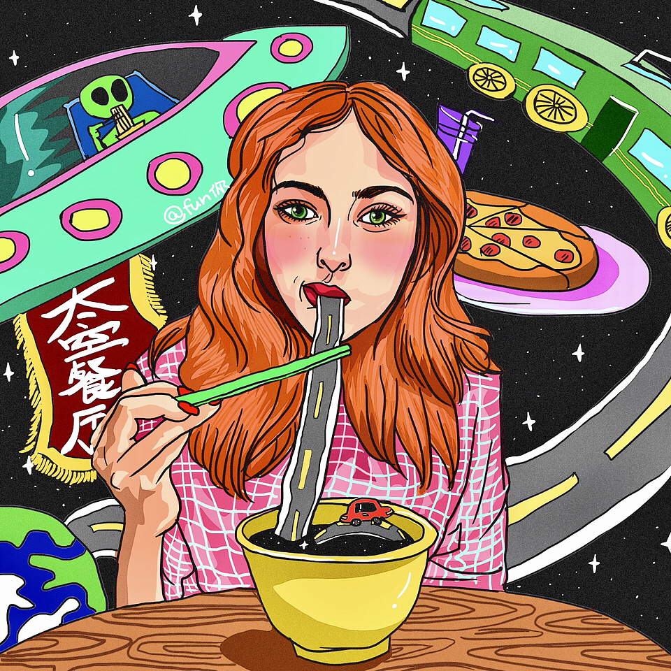 《未来世界系列》 插画 商业插画 xufunny - 原创作品图片