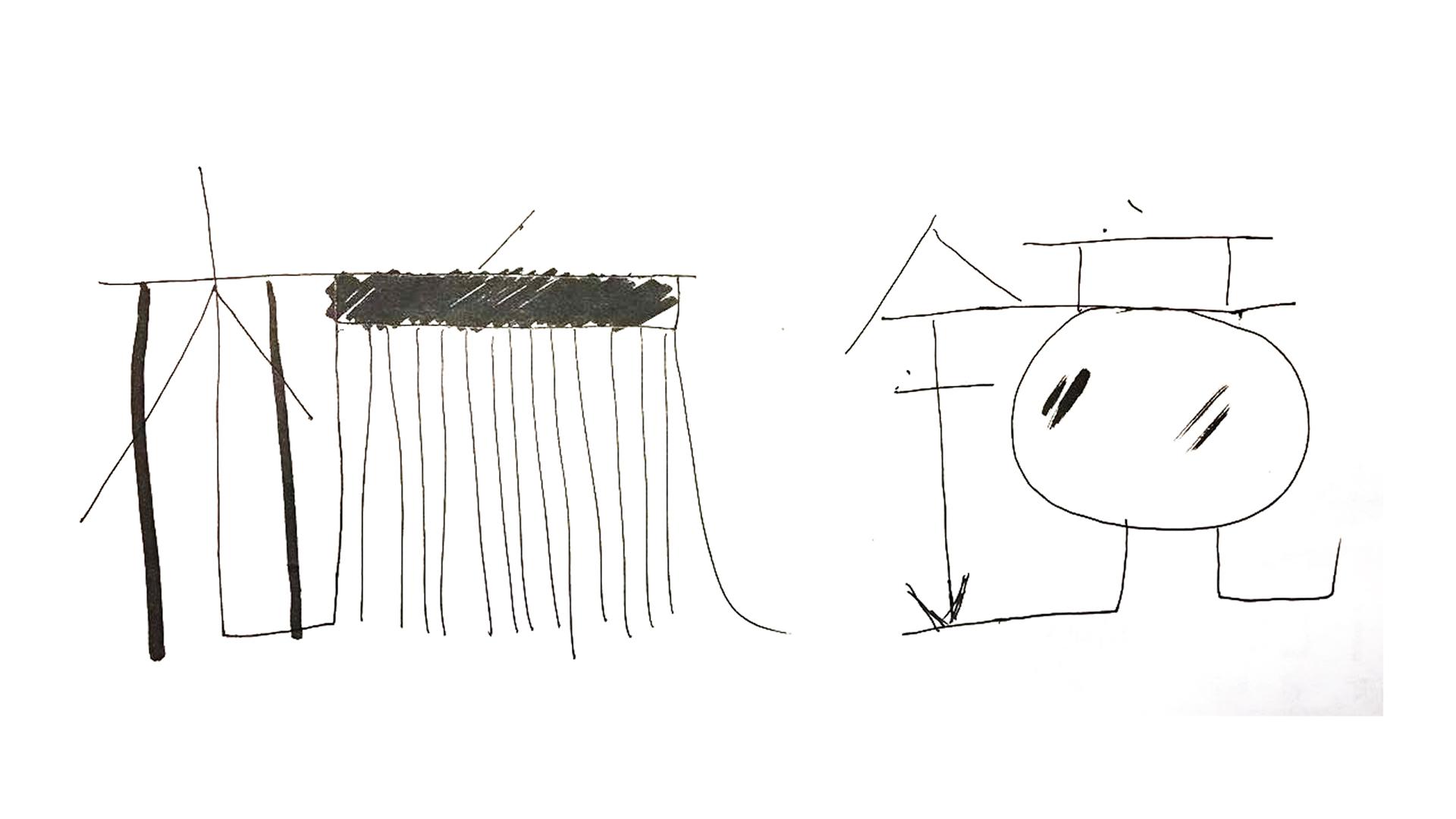 梳子创意画手绘