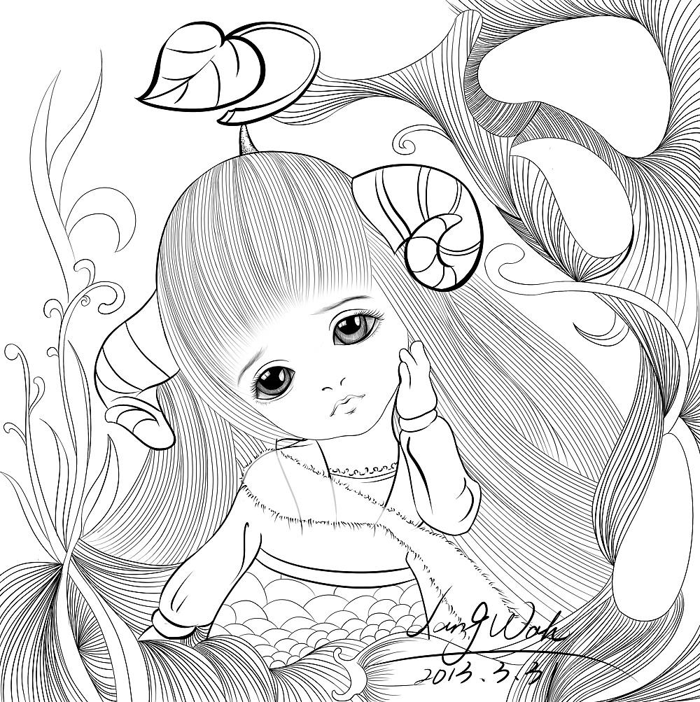 花丛图片简笔画手绘