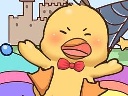 三毛鸭卡通形象及表情包(不断更新中)