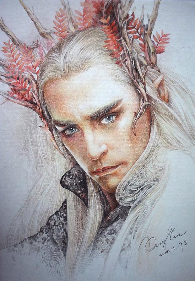 彩铅画——精灵王