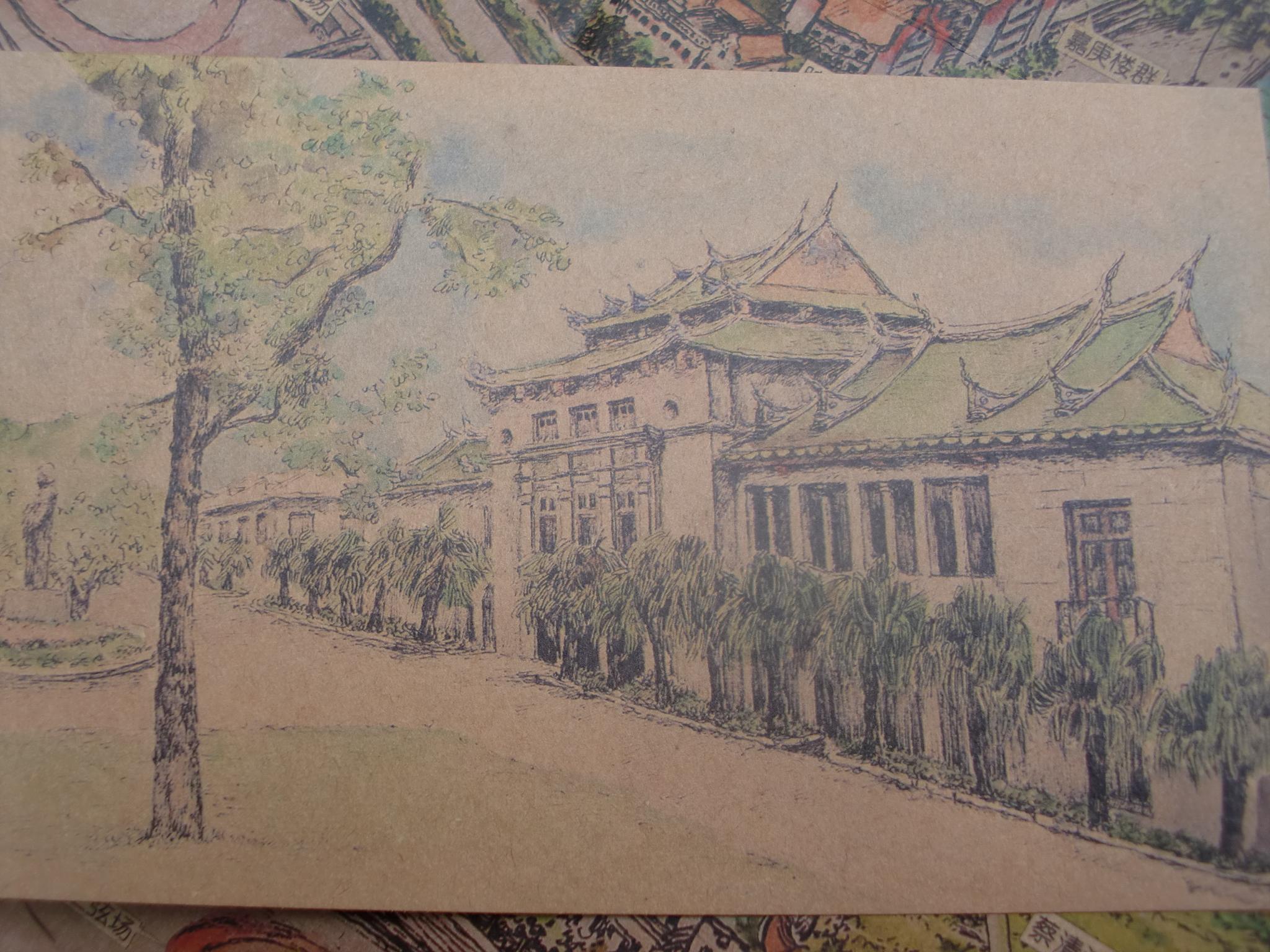厦门大学手绘地图|插画|其他插画|petezheng - 原创