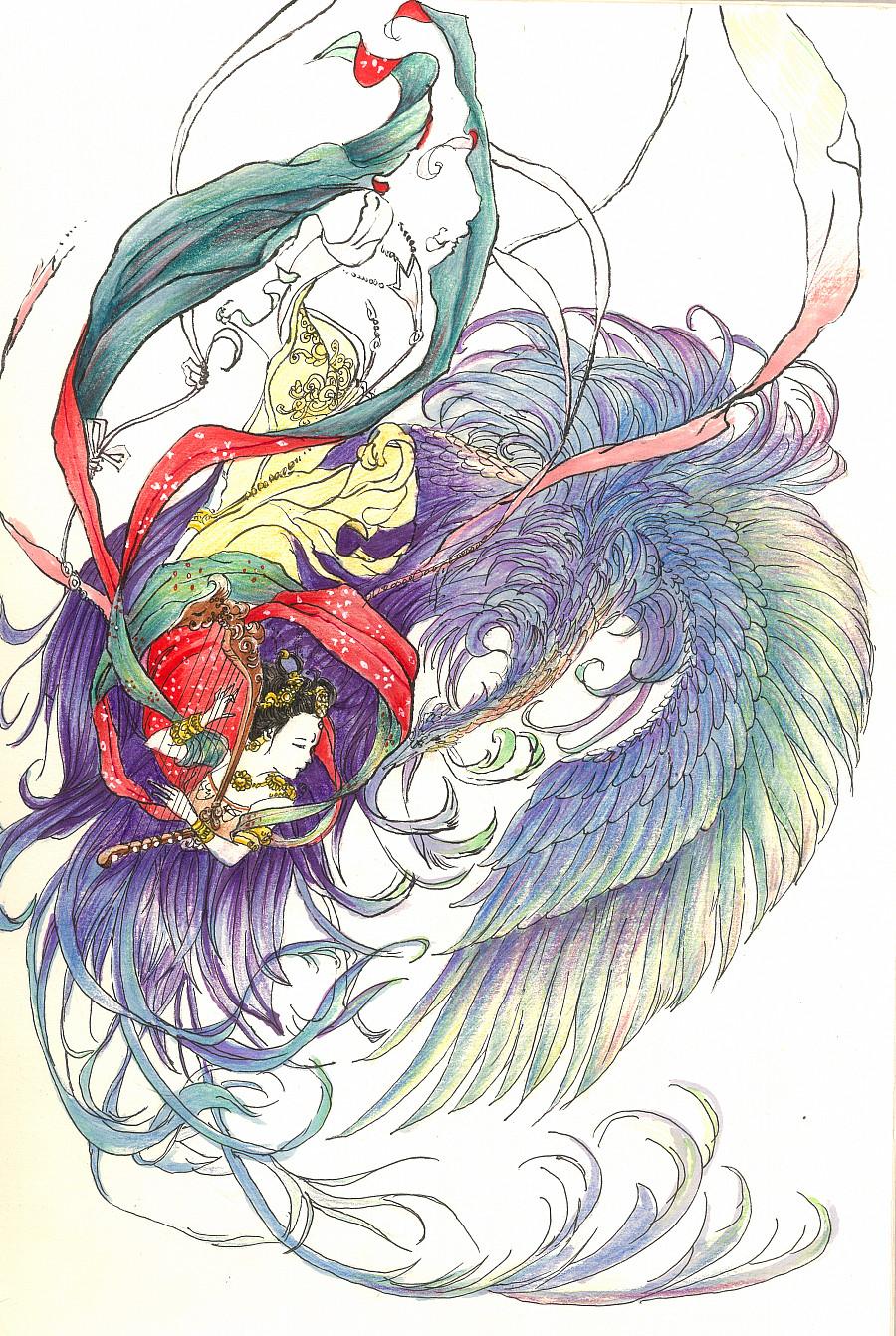 彩铅手绘|绘画习作|插画|勿霜