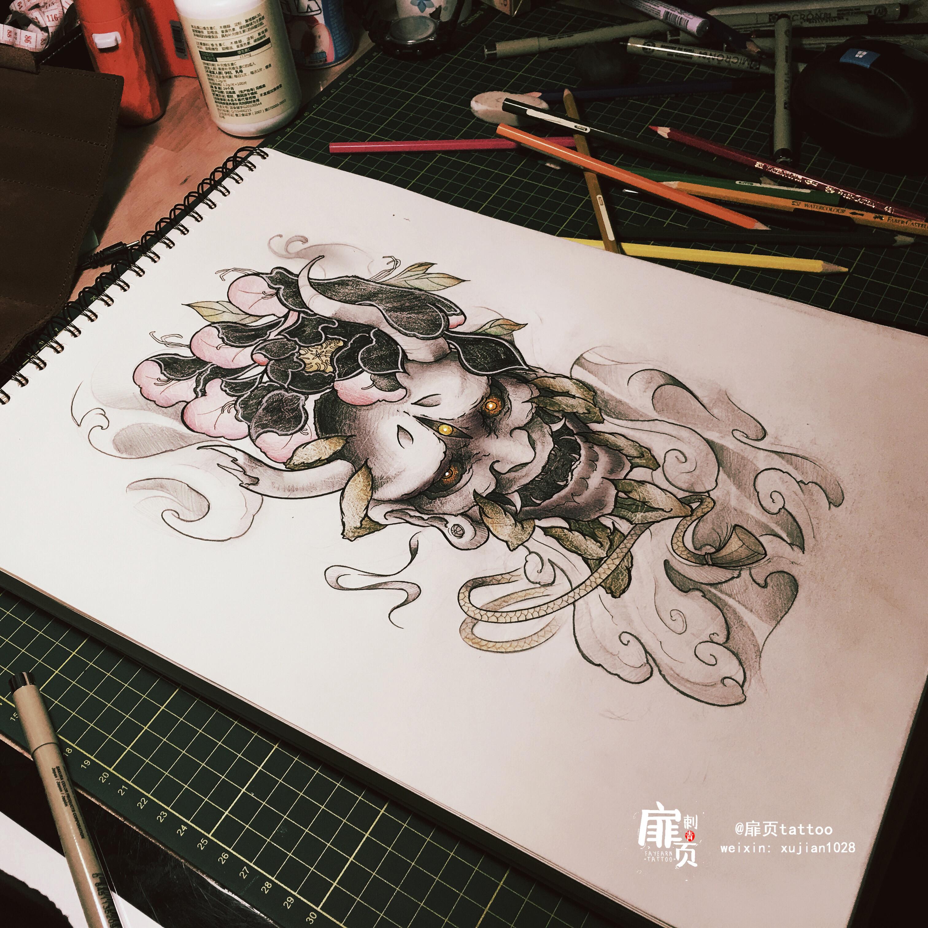 原创纹身手稿