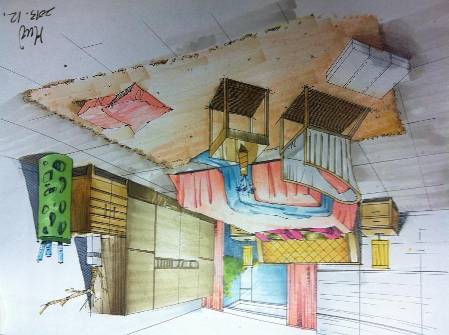 风景和室内手绘