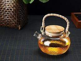 玻璃茶壶 茶杯 龙鳞纹茶具 静物拍摄 南京商业产品摄影