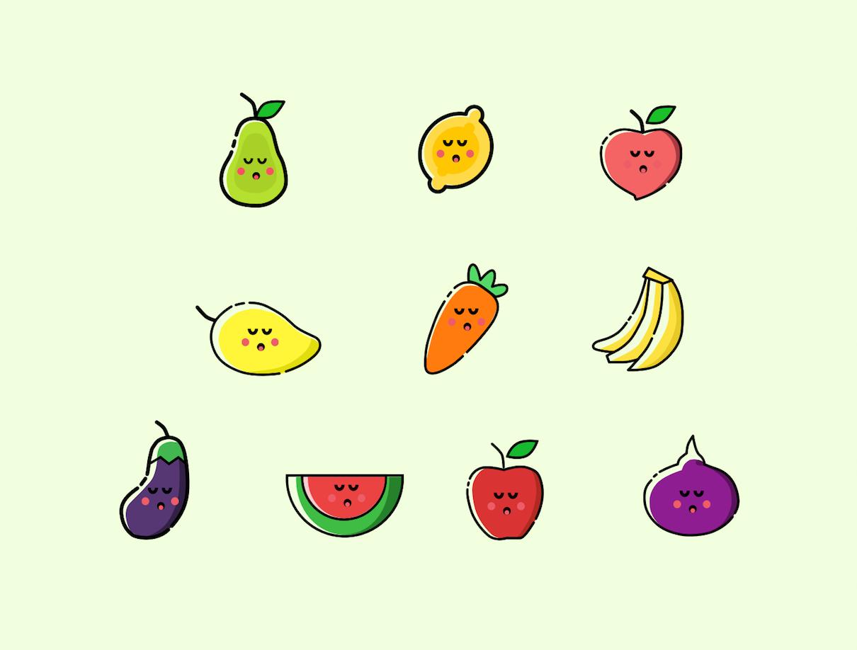 各种卡通水果ui|图标|ui|创意精灵 - 原创设计作品