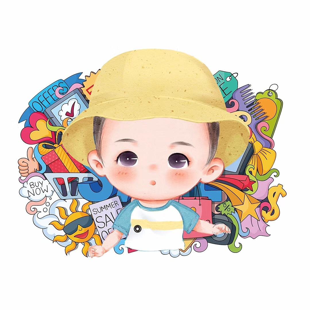 萌娃风 动漫 肖像孩子 熊漫画团结馆YJ-手绘作原创劝漫画图片