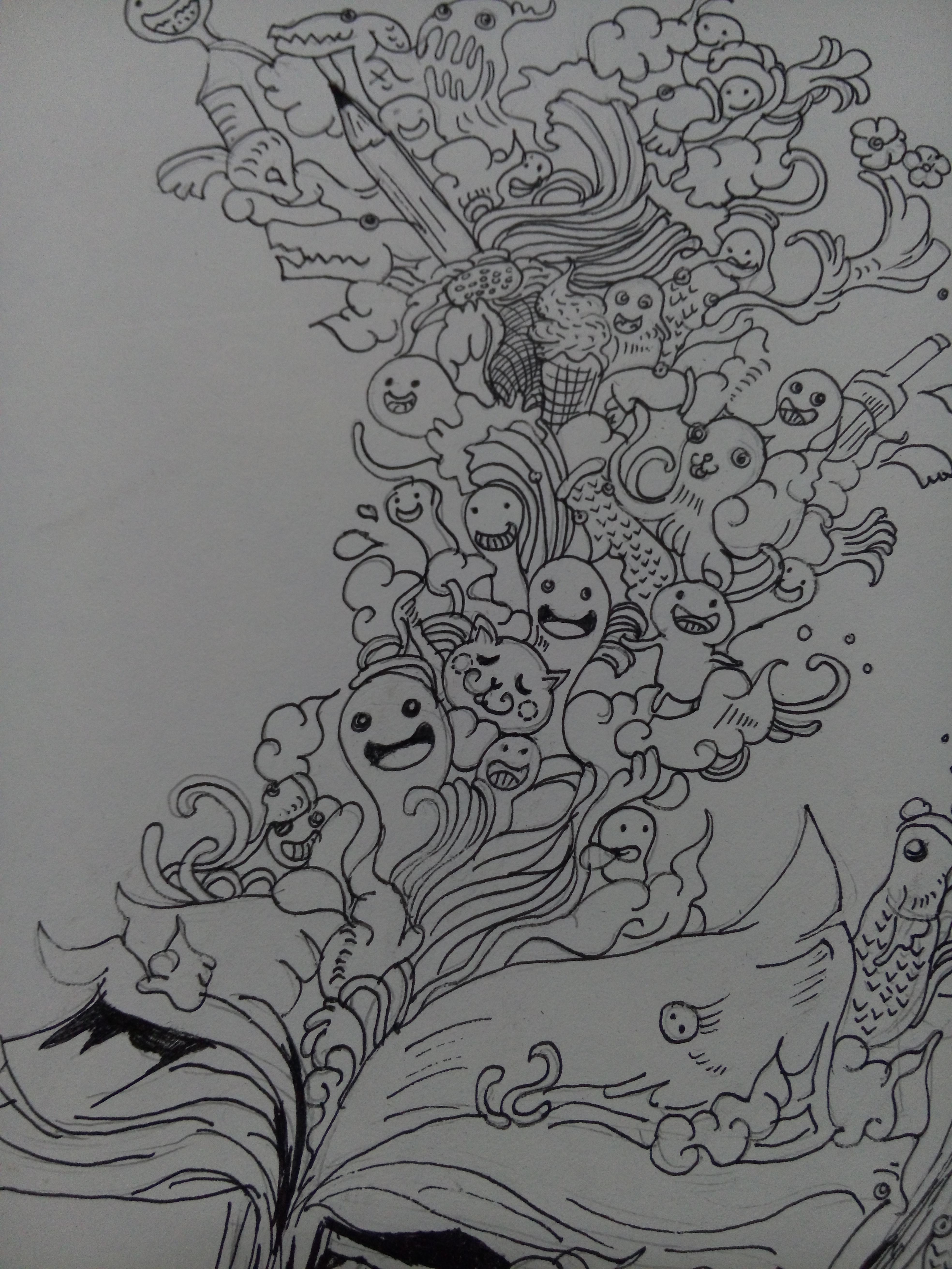 小小手绘插画