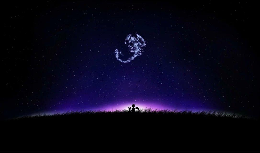 仰望星空图片