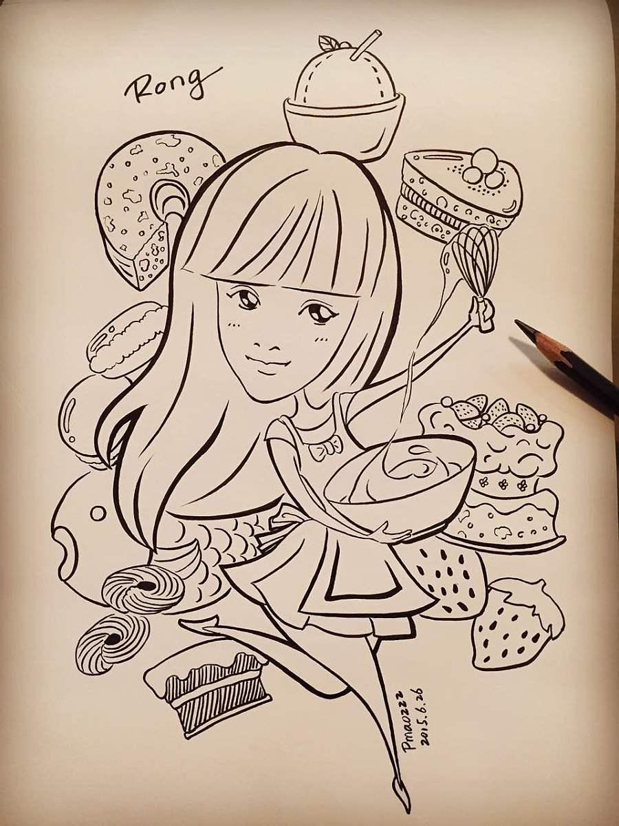 甜点简笔画手绘