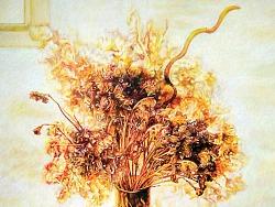 彩铅的魅力 —《静物 — 干花》