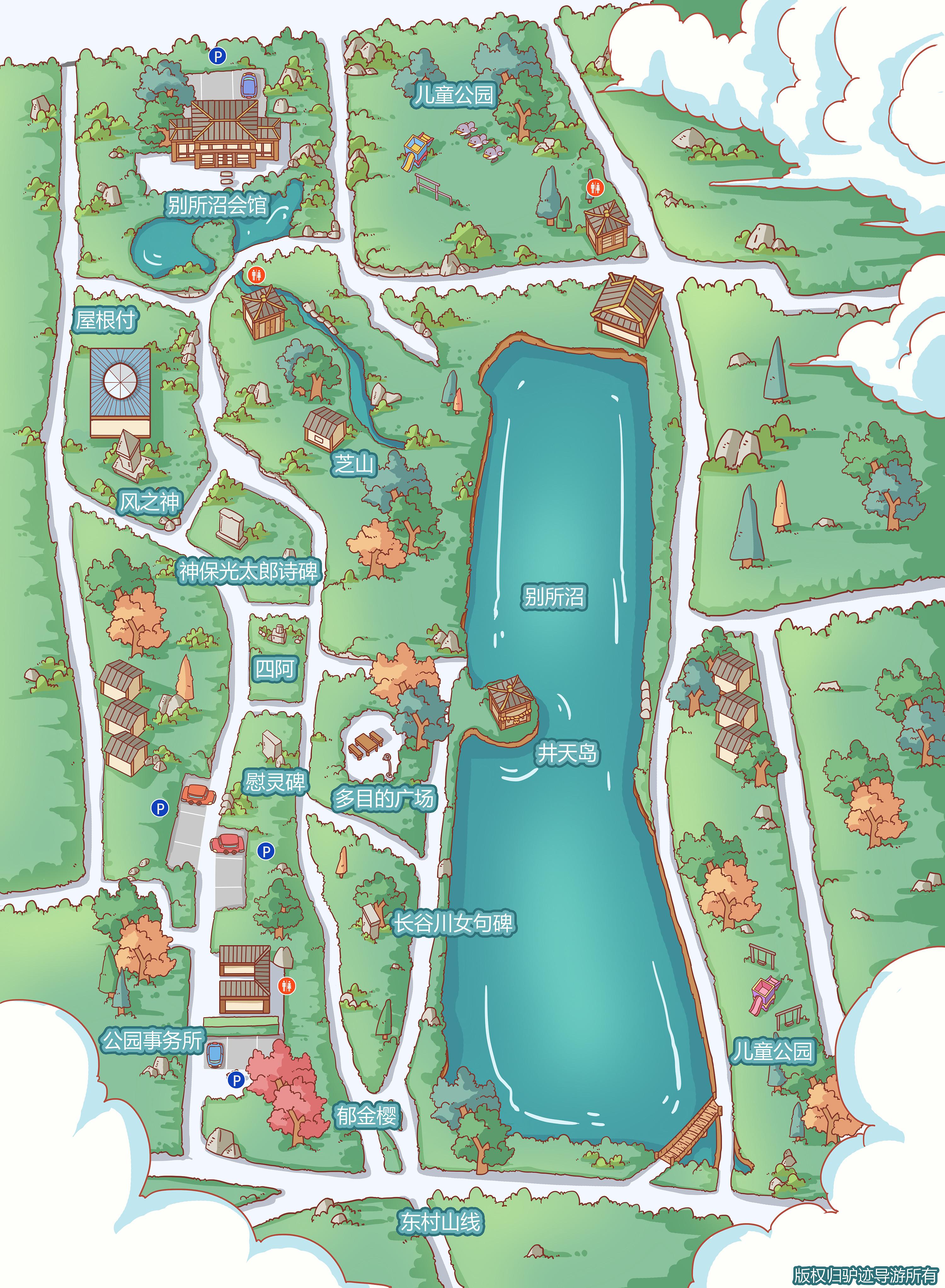 单位手绘卡通施工分包设计组织设计地图图片