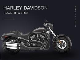 Harley Davidson Realistic Painting
