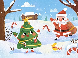儿童插画 圣诞节