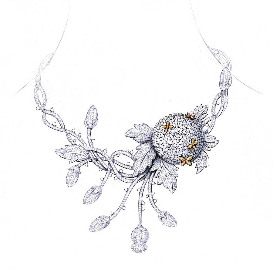 代波军艺术珠宝手绘设计稿!|首饰|手工艺|代波军艺术图片