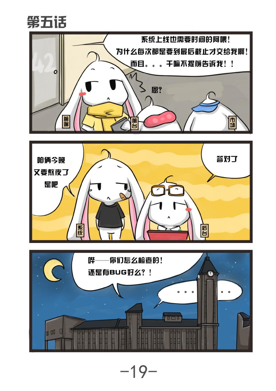 《42TEAM的漫画》漫画|短篇/四格兔子|漫画|小女孩动漫变的起床图片