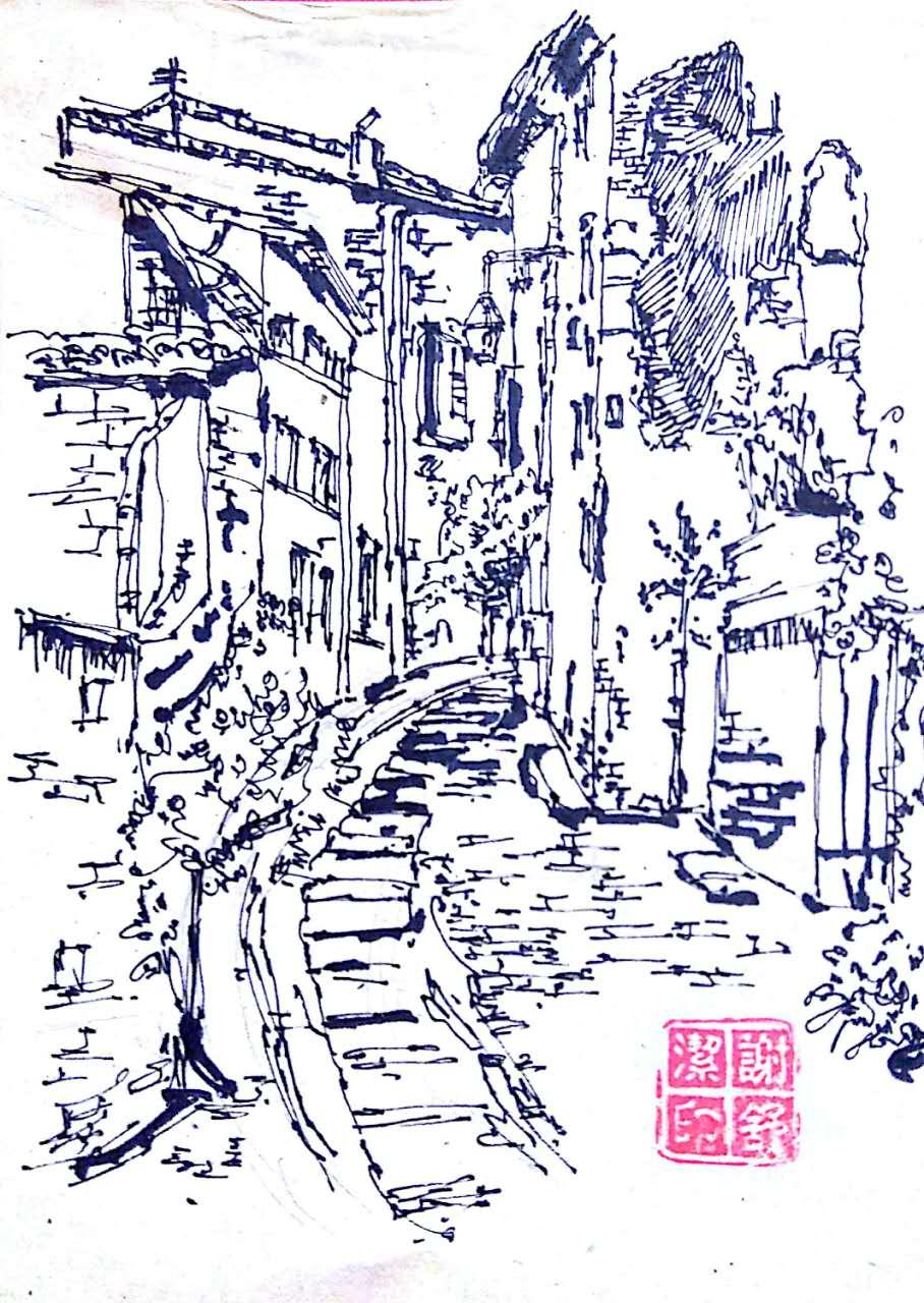 黑白手绘|纯艺术|钢笔画|乖小猫咪朵朵莱 - 原创作品