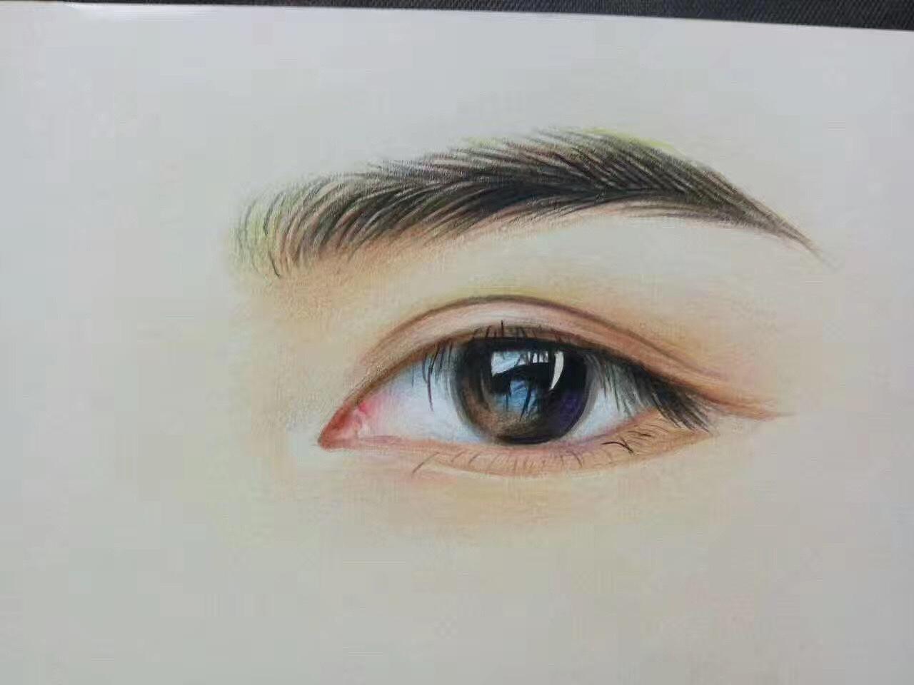 彩铅手绘眼镜