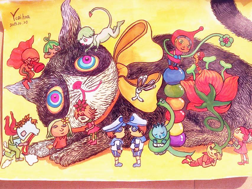 几米儿童画手绘临摹