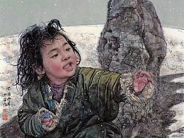 刘少宁国画人物作品