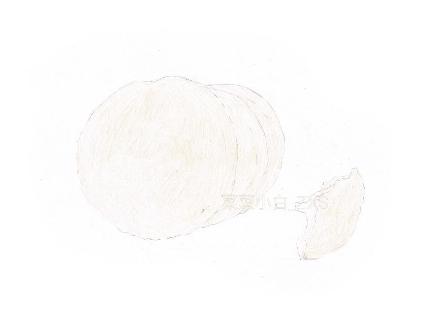 彩铅手绘——黑芝麻糖饼