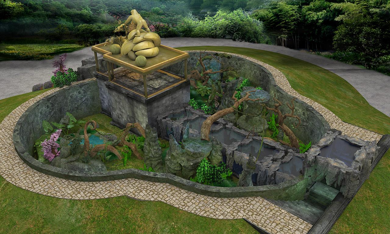 动物园猩猩馆设计|三维|建筑/空间|zhtp - 原创作品