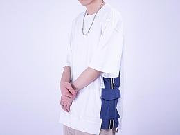 丅恤男短袖潮流t恤夏季新款简约个性拼接设计半袖日系