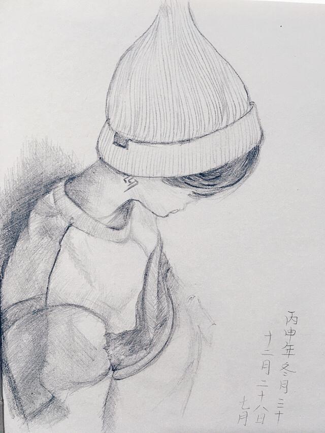 手绘插画鹿晗