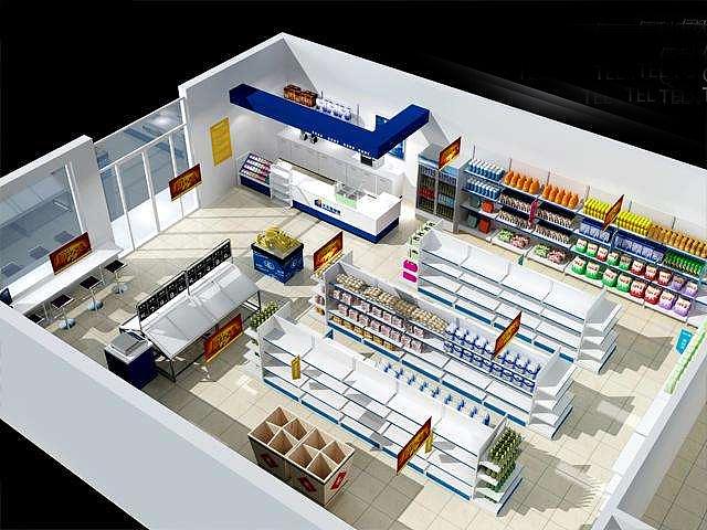 成都超市连锁便利店装修设计案例效果图