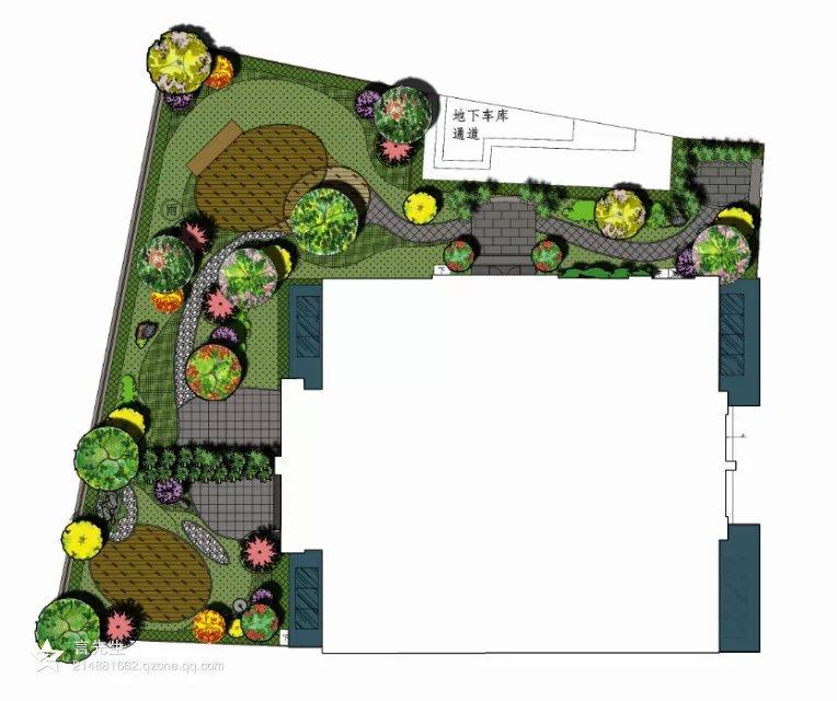 一些做的别墅庭院平面|园林景观/规划|空间/建筑|jrr