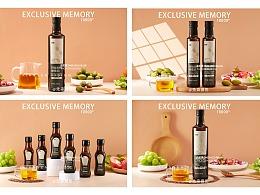 亚麻籽油 橄榄油拍摄摄影 成都美食摄影