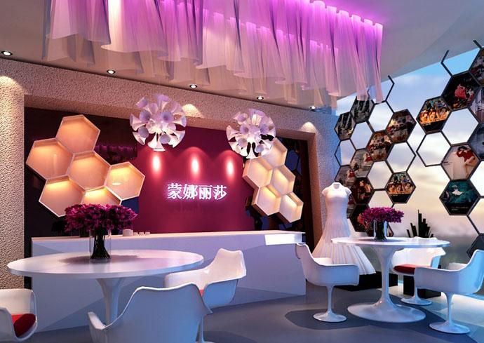 成都婚纱店设计-蒙娜丽莎婚纱店影楼设计 室内