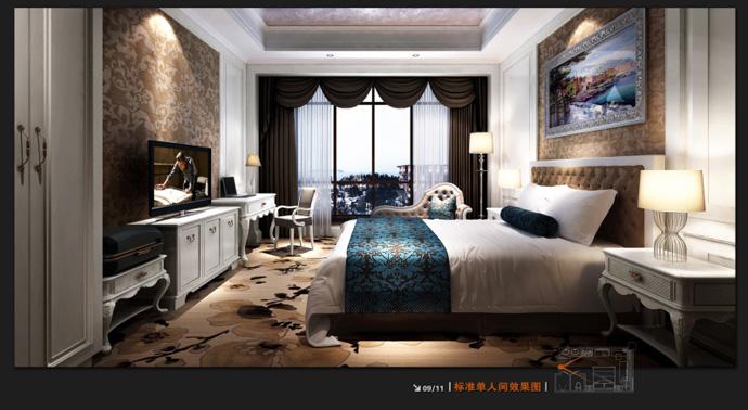 法式酒店酒店--德阳主题v酒店|莒县酒店装修|室内德阳平面设计图片