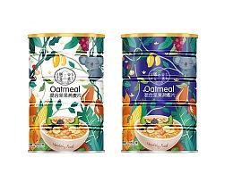 红豆薏米粉 燕麦包装设计