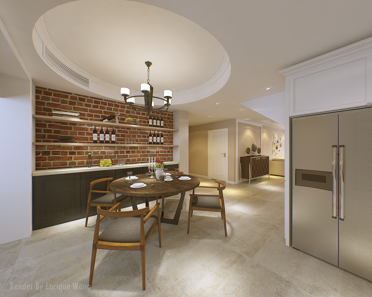 美式家装效果图一套|三维|建筑/空间|mrmoon2010