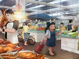 水兵悦的日常·逛菜市场